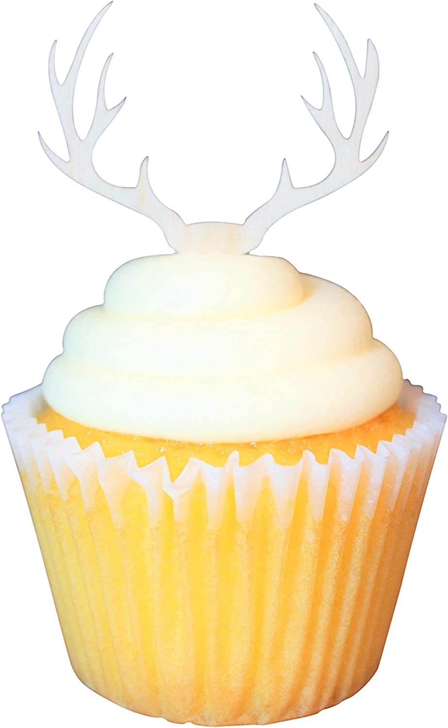 Timber Christmas cake Wooden Antler Cupcake Topper Deer Antler Cupcake