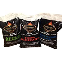 Lumber Jack BBQ 60 Pounds Pellet Assortment (Pick 3 x 20 Pound Bags) See Description for Flavors