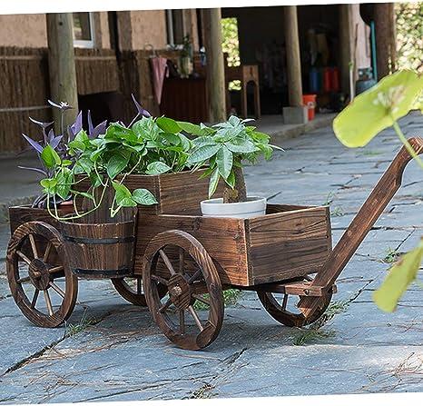 MYGIRLE Madera Al Aire Libre Grande Criado Jardín Levantado Cama ...