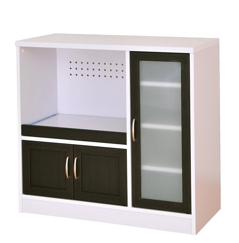 SATO カフェティラ 食器棚 ホワイト/ダークブラウン CTS90-90G B003YEMPAW Parent