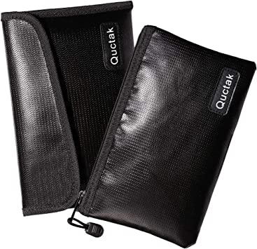 Fireproof Waterproof Money Bag Safe Storage Pouch for Card Keys Cash Small Size