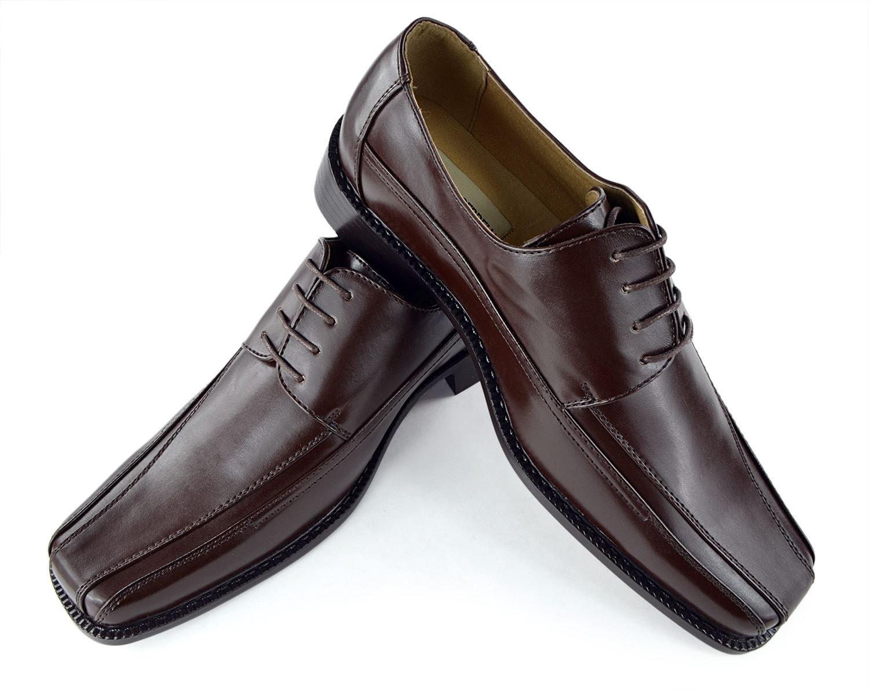 Moda Di Raza-Mens Bike Toe Oxford Dress Shoes -Charcoal Brown - 5795/ Size: 10.5