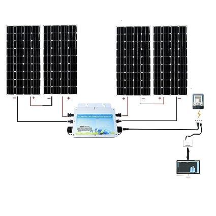 Amazon.com: Kit completo de paneles solares Eco-worthy de ...