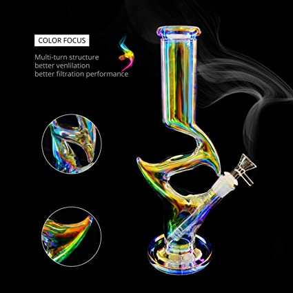 Z-Ran Straight Thick Glass Smokeless Water Pipe Collectibles Tall 15.6 Inch Green