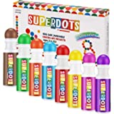Magicfly Washable Dot Markers, 8 Colors Non-Toxic Paint Marker for Kids, Water-Based Dab Marker for Toddlers, Dauber Marker Perfect for Preschool Art Supply