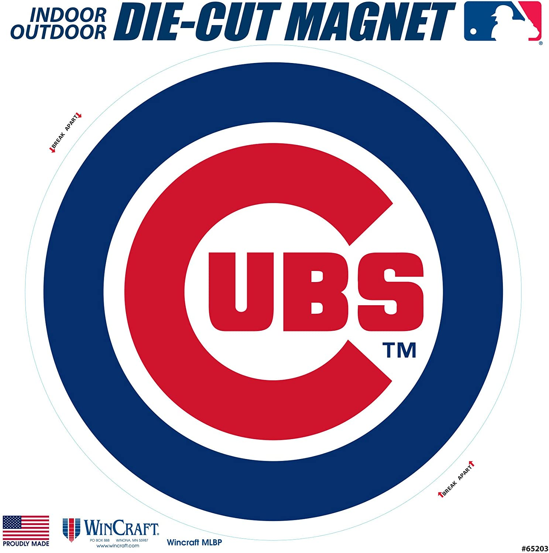 "Stockdale Chicago Cubs SD 6"" Logo MAGNET Die Cut Vinyl Auto Home Heavy Duty Baseball"