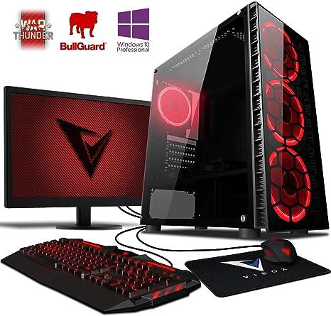 4,0GHz AMD FX Quad-Core Procesador, Nvidia GeForce GTX 1050 Tarjeta Grafica, 8GB RAM, 1TB HDD, Sin OS VIBOX Centre 4 Gaming PC Ordenador de sobremesa con Cup/ón de Juego 22 HD Monitor