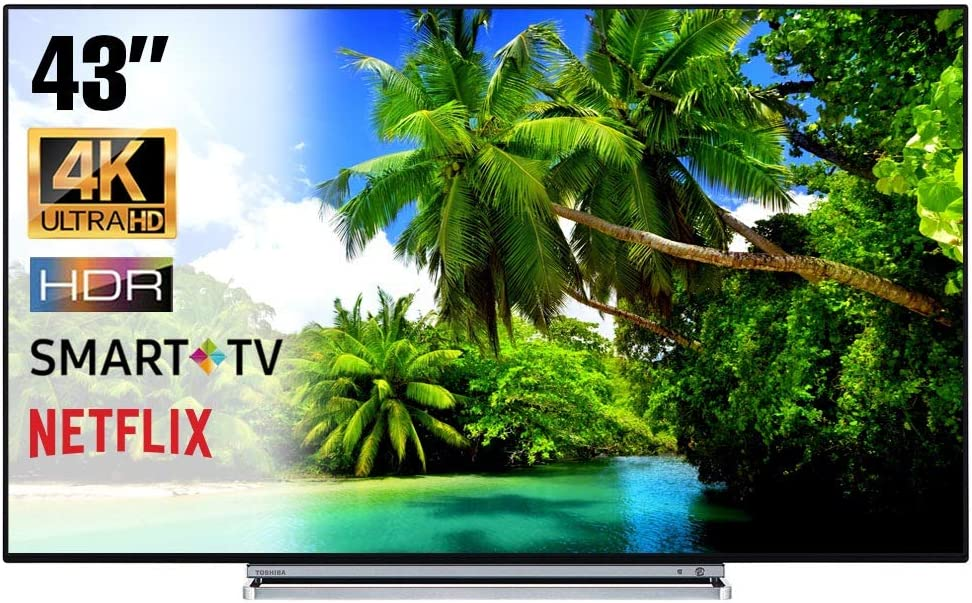 Smart TV 4K 55 Pulgadas Televisor Ultra HD Toshiba 55V6763DA HDR Cinema Serie TV Dolby WiFi WLAN Conectividad Netflix You Tube: Amazon.es: Electrónica
