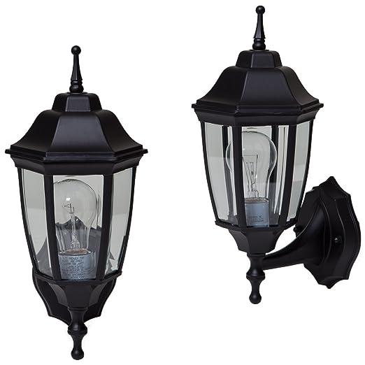 Boston Harbor 5552294 Black outdoor wall lantern, 2 Pack - Wall Porch Lights  - Amazon.com - Boston Harbor 5552294 Black Outdoor Wall Lantern, 2 Pack - Wall