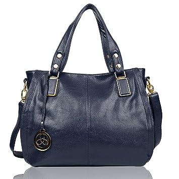 a13ac21cad46b EGOGO Damen Shopper Handtasche Leder Henkeltasche Für Fraun Schultertasche  Reisen Arbeit und Einkäufe E522-6