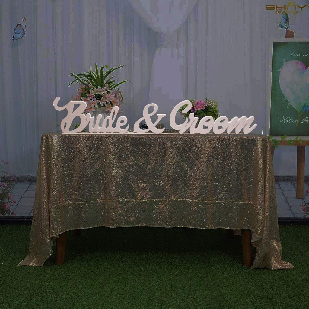 Bride and Groom Wedding Signs for Sweetheart Table Decor - wooden Signs, Sign Letters Freestanding Bridal Table