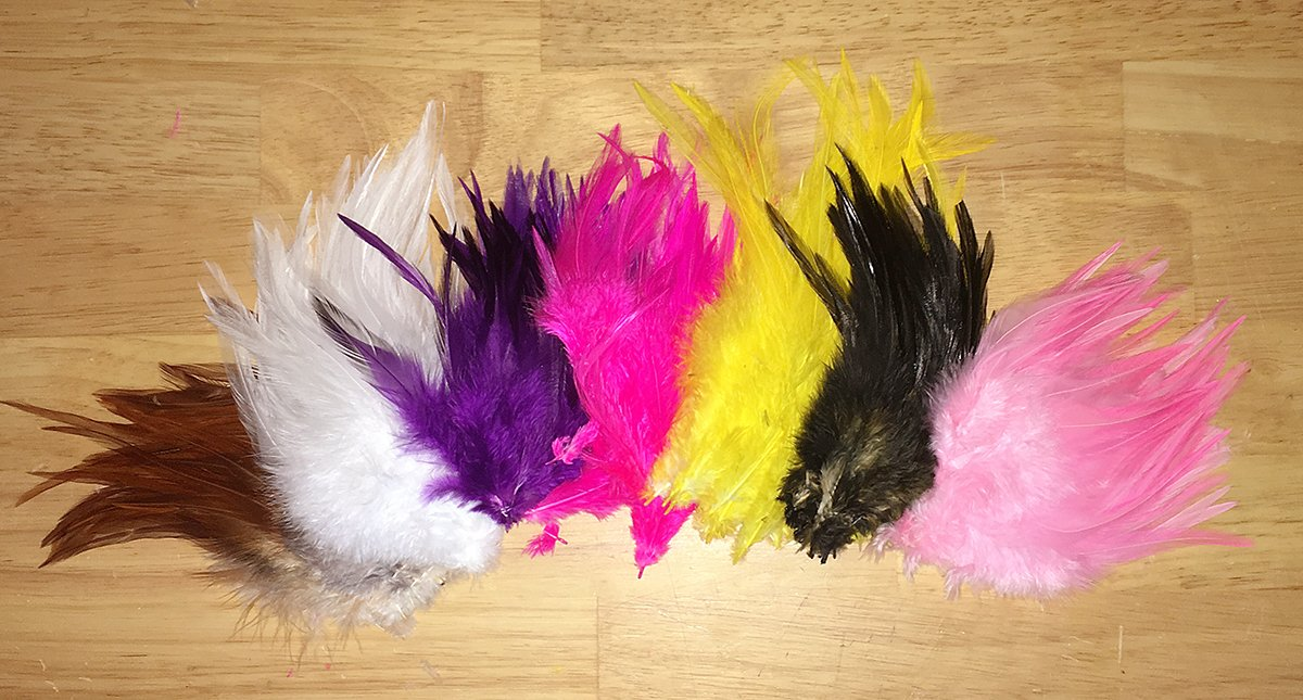 White.. Loose... Feather. Fluo Fly Tying Material. Color. Rooster Saddle Hackle..