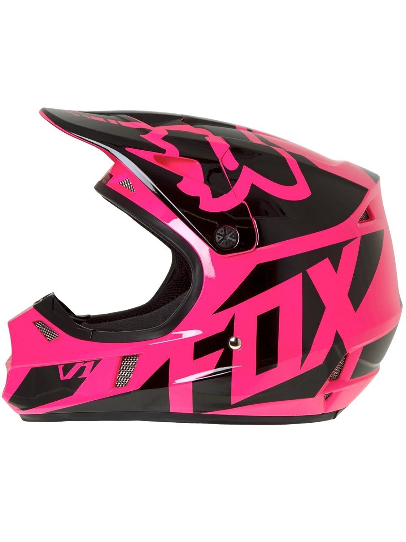 Casco Mx Niño Fox 2017 V1 Race Rosado (L Niño , Rosado): Fox: Amazon.es: Coche y moto