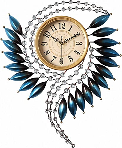 Crystal Metal Wall Clock Silent Non Ticking
