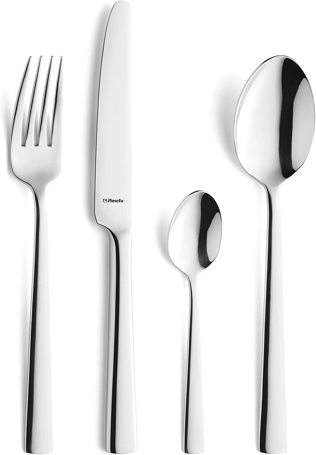 6 Person Various Designs Amefa 18.10 Stainless Steel Masters Cutlery 44 Piece