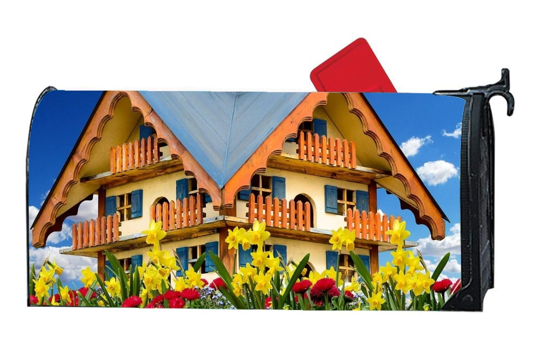 Amazon Malbx Flowers And Houses Spring Break Birds Mailbox