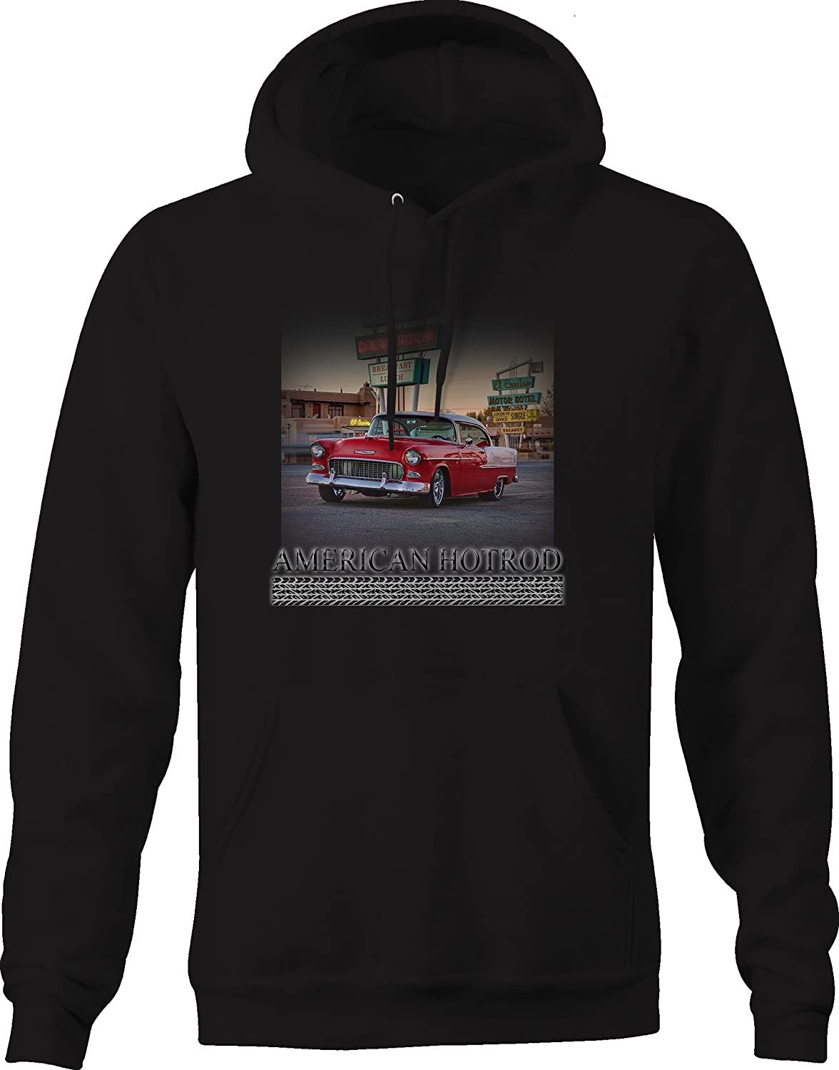 American Hotrod Muscle Car Belair Diner Motel Classic Graphic Hoodie for Men