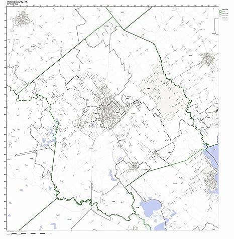 Amazon.com: Victoria County, Texas TX ZIP Code Map Not ...