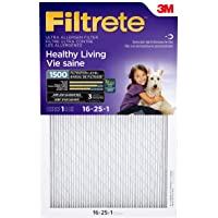 Filtrete 16x25x1 MPR 1500 Pleated AC Furnace Air Filter, Healthy Living Ultra Allergen Reduction, 6-Pack