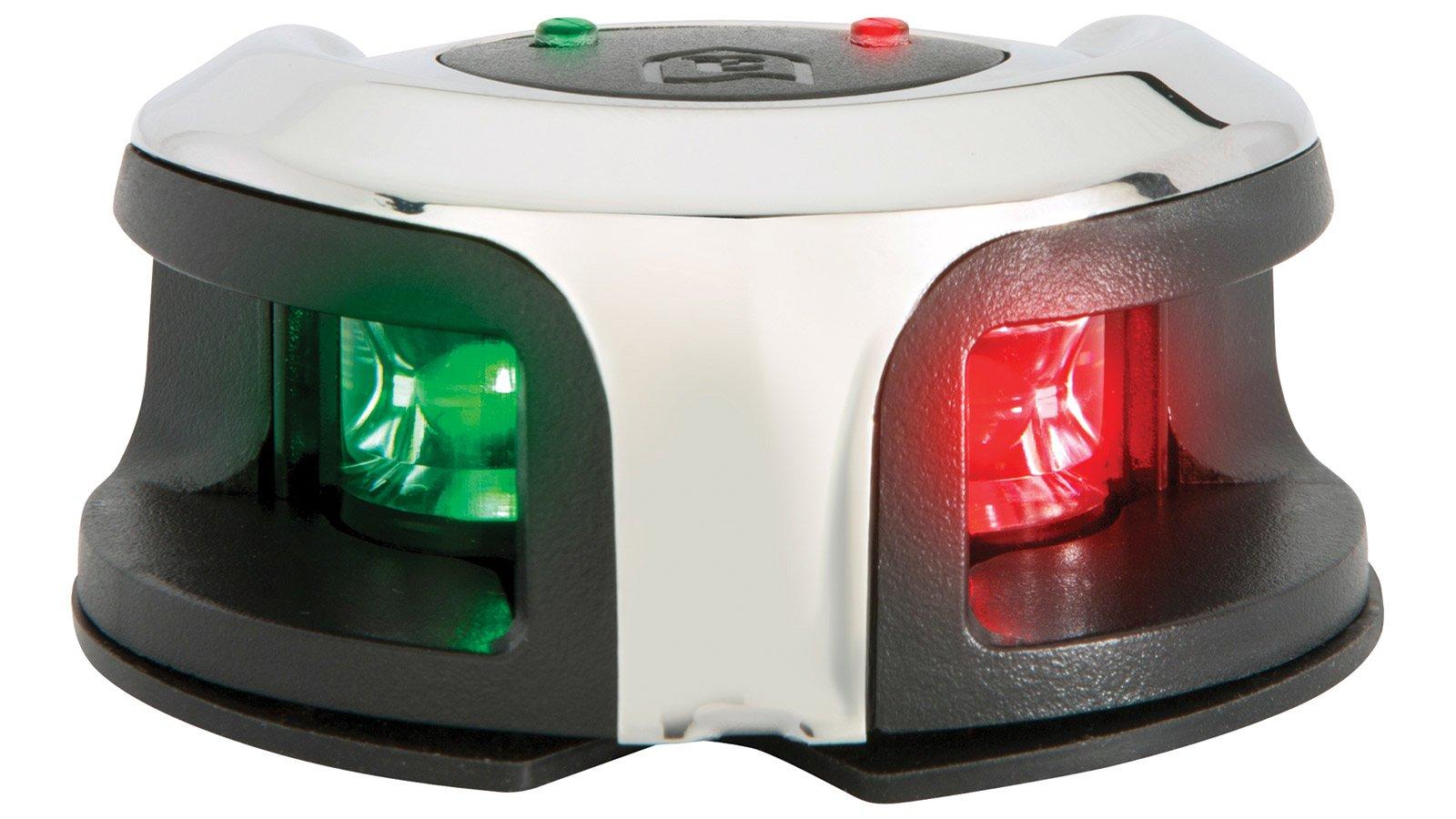 attwood LightArmor Bow Mount Navigation Light - Stainless Steel - Bi-Color - 2NM