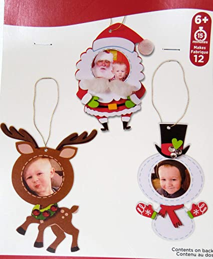 Amazon.com: Christmas Photo Frame Ornaments Craft Fun Foam Kit ...