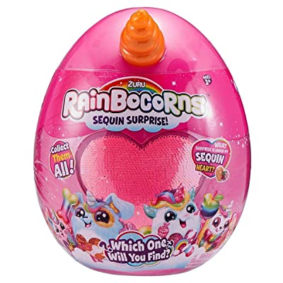 Zuru Rainbocorns Sequin Surprise Plush Unicorn Animal Collectible (Styles Will Vary): Toys & Games