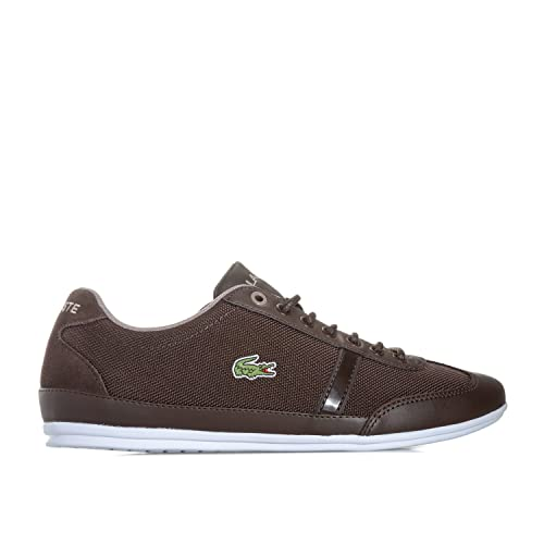 3686ad8e5a22 Lacoste Mens Mens Misano Sport 417 1 JD CAM Trainers in Dark Brown - UK 7