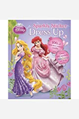 Disney Princess Sparkly Sticker Dress Up (Dress-Up Doll Book) Perfect Paperback