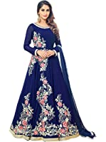 Khushi Creation Blue Semi Georgette Anarkali Suit