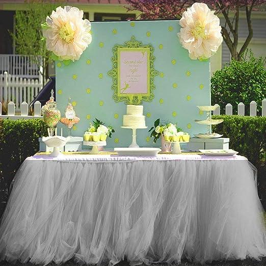 Tutu - Falda de tul para tocador de mesa, para baby shower, fiesta ...