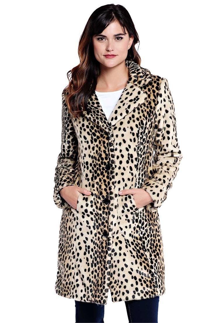Roamans Women's Plus Size Fabulous Furs Tailored Stroller Leopard,20 W by Roamans