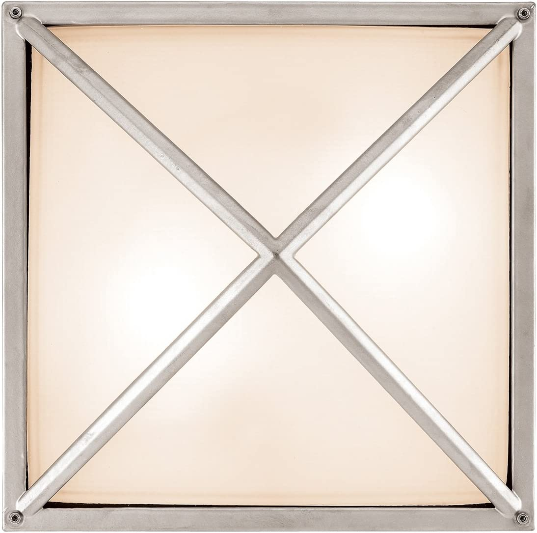 Access Lighting Oden Outdoor Wall Fixture – Satin Finish with Frosted Glass Shade
