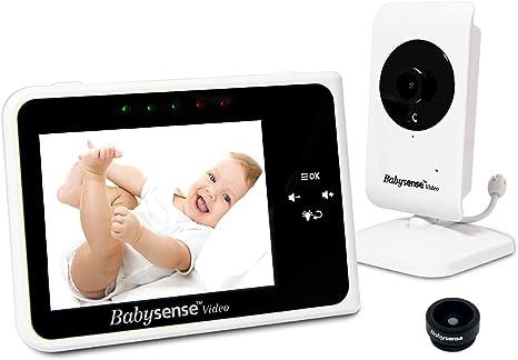 Babysense Video Baby Monitor w//2 Cameras LCD Night Vision Talk Back Temperature