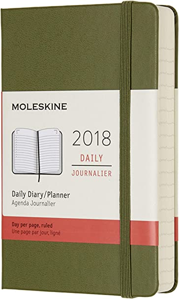 Moleskine Día Calendario, 12 Meses, 2018, Hard Cover, color ...