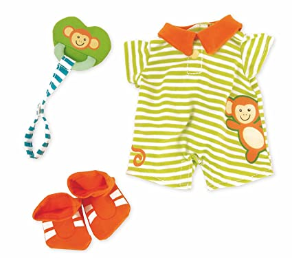 94fbf6cfb74ea Amazon.com: Manhattan Toy Baby Stella Little Monkey Onesie Baby Doll ...