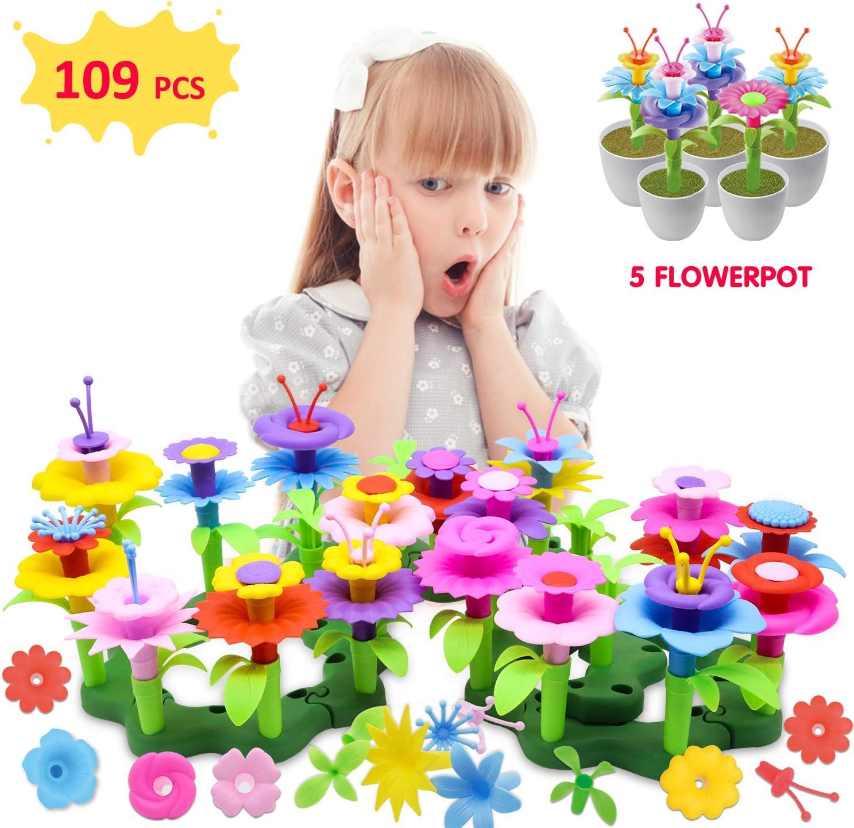 HOMILY Flower Garden Building Toys Girl Gifts Flower Gardening Preschool Craft Kits Toddler Toys