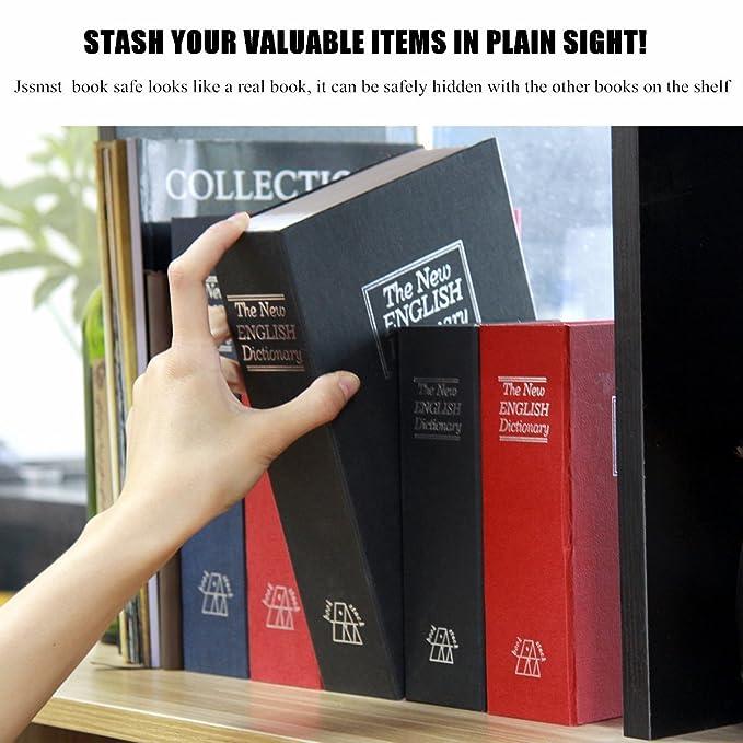 Libro caja fuerte (con cerradura de combinación, hogar diccionario desviación caja de cerradura de seguridad de metal (negro grande) us-spo-003: Amazon.es: ...