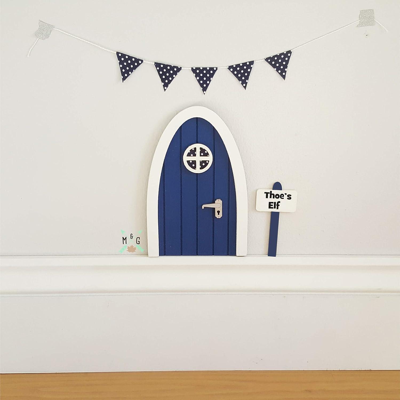 Personalised Fairy door in deep blue