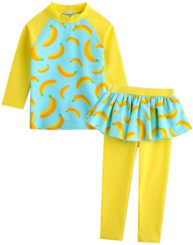 Vaenait baby 2T-7T Girls Rashguard Swimwear Swimsuit Set Sweet Bunnie GSW_039