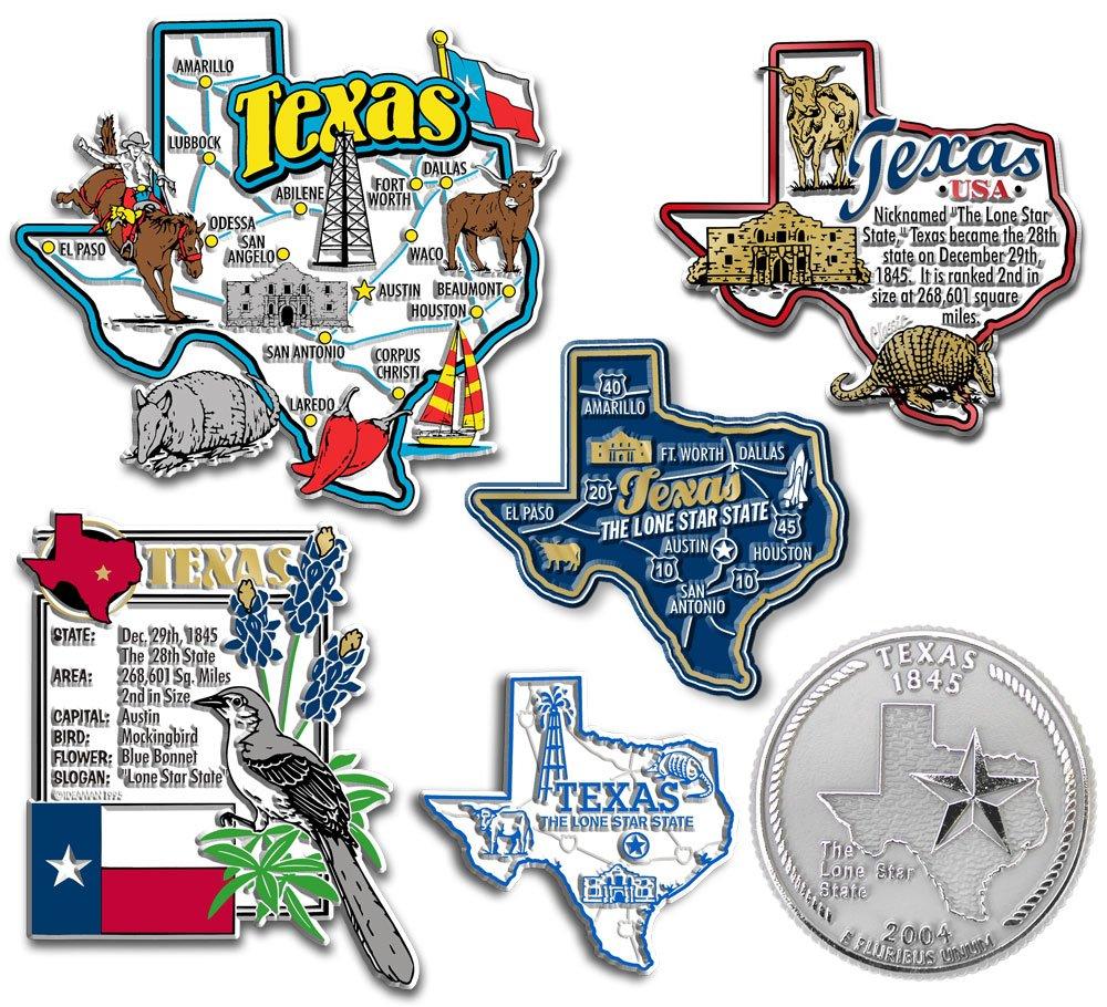 Six-Piece State Magnet Set - Texas