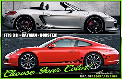 Amazon com: Porsche 911 Carrera Boxster Cayman GT GT3 RS Checkered