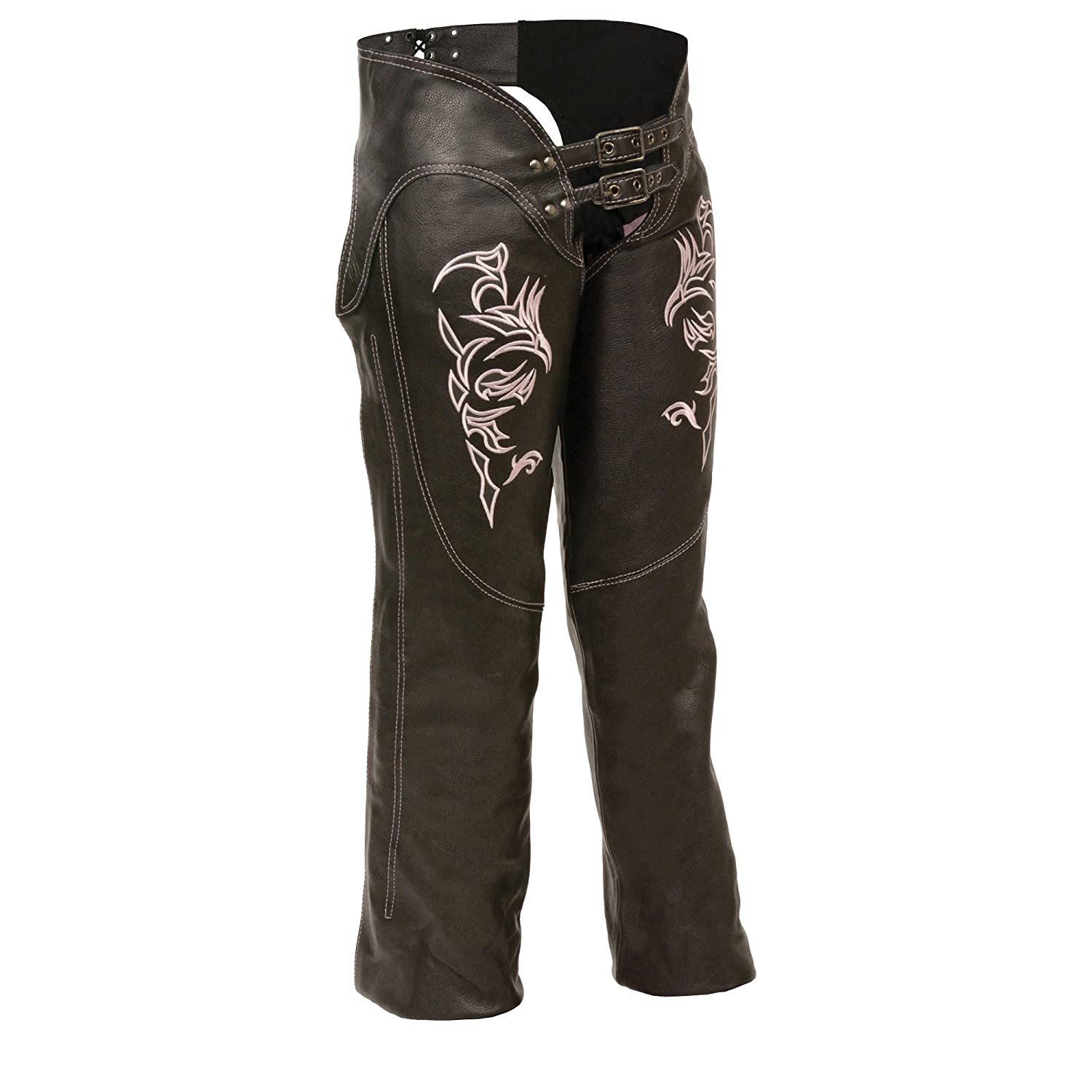 Milwaukee Women's Leather Chaps (Black, Small) Milwaukee Leather Milwaukee Women' s Leather Chaps (Black ML1187-BLK-SM