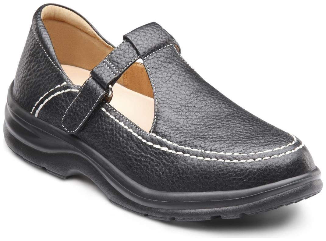 Dr. Comfort Lu Lu Women's Therapeutic Diabetic Extra Depth Shoe: Black 7.5 Wide (C-D) Velcro