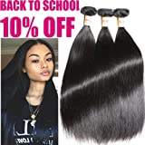 Connie Hair Brazilian Straight Hair 3 Bundles 20 22 24Inch Grade 6A Unprocessed Brazilian Straight Weave Bundles Natural Color