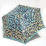 ブランド傘 UV加工 日本製 ハナエ モリ HANAE MORI(折りたたみ)紺(水玉フラワー)