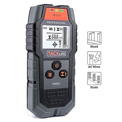 Detector digital, TACKLIFE DMS03 detector de metal y cables eléctricos, Stud Finder, Wall