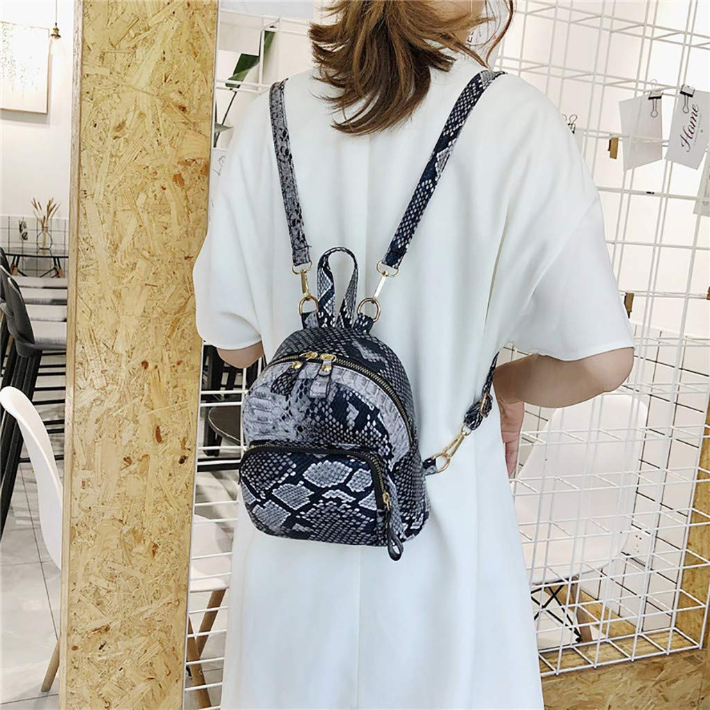 ZZXIAN Zaino Borsa Tracolla Serpente Leopardo Zainetto Borse Donna Frigo Estate Borsetta Moda Eleganti Borse Mare Borsellino Borsello Vintage Per Mare Lavoro Viaggio cachi