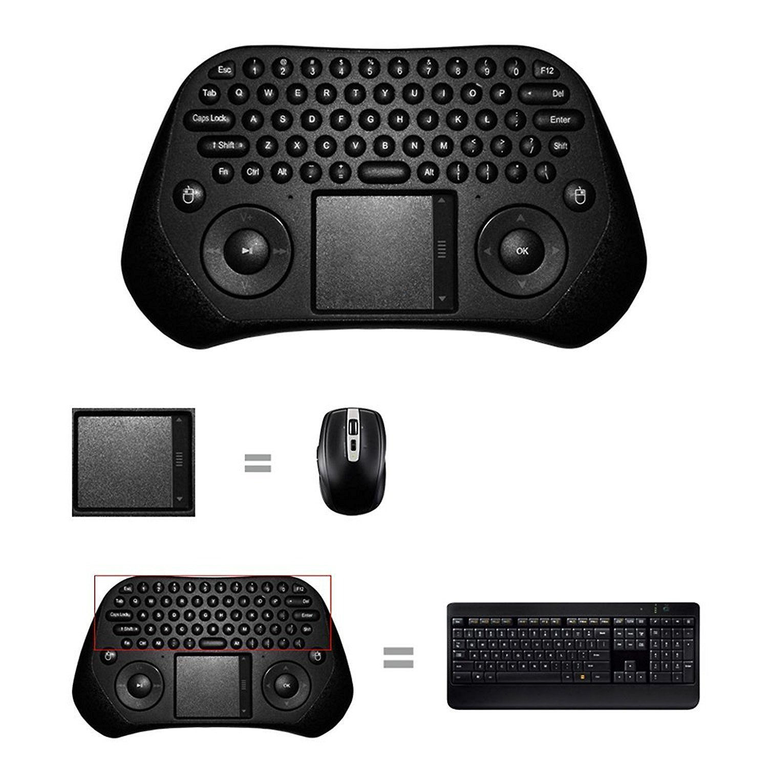 Wireless Keyboard Touchpad Android Handheld Image 3