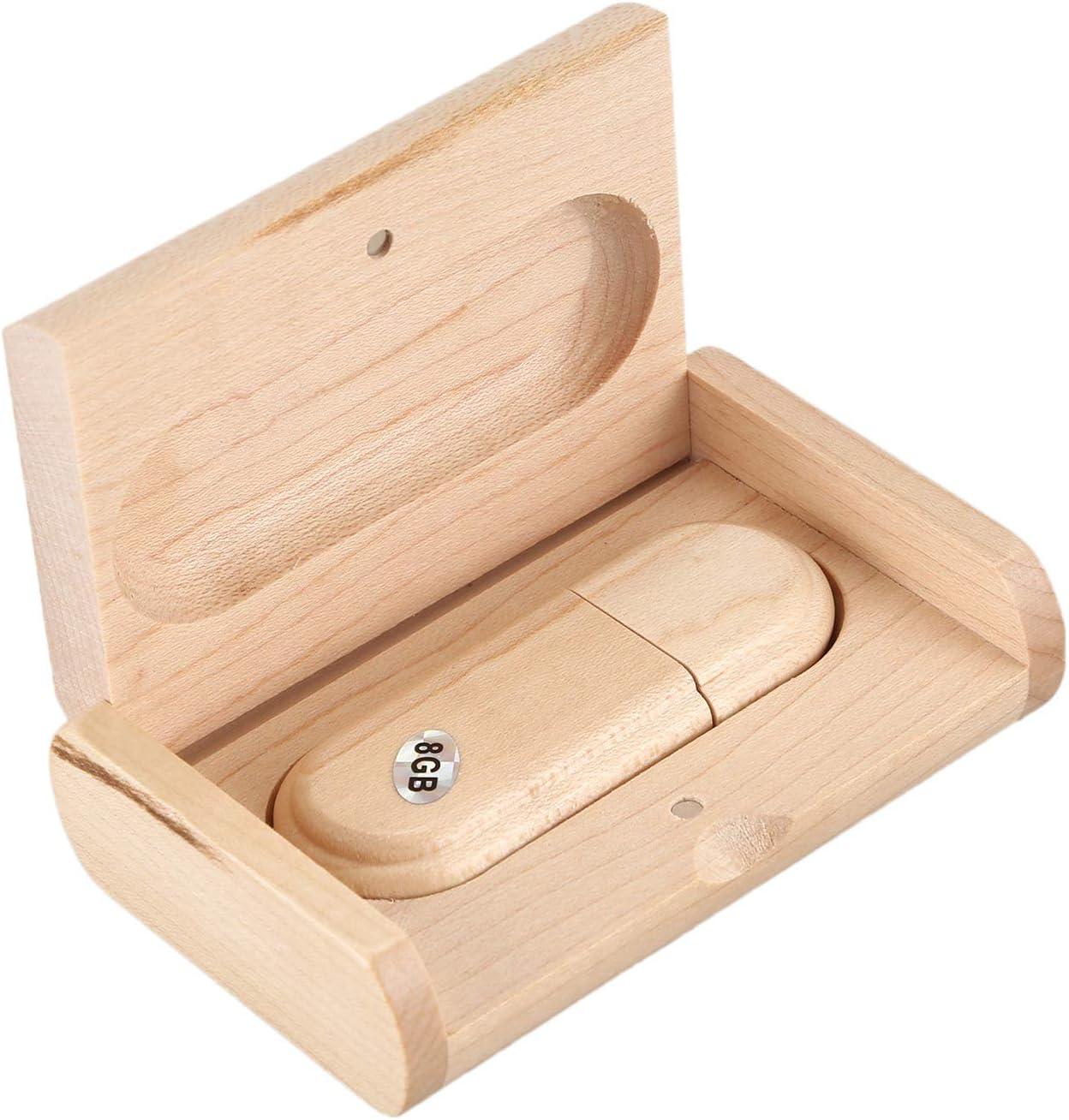 Cikuso De Madera Disco USB U De Memoria De La Unidad De Memoria Flash Stick del Disco U con Capacidad De La Caja De Madera: 8G: Amazon.es: Electrónica