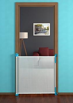 Gaterol Active Lite Azul – barrera de seguridad enrollable para escaleras y vanos de hasta 140 cm: Amazon.es: Bebé